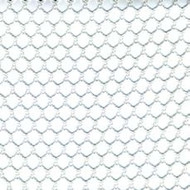 12' X 55' c/s # 8600 White 1/2'' Mesh Tarp W/ Web Hem & Grommets 24'' Apart W/ Pocket Rear