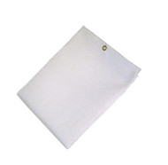 "12' X 12' 35 oz. White Fiberglass Blanket W/Grommets 24"""