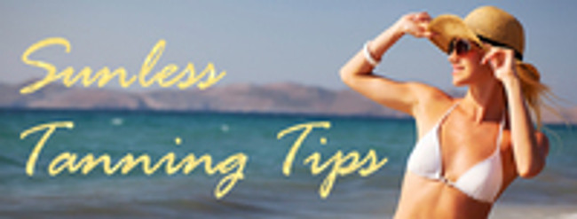 Tips for a healthy tan with sunless tanning!