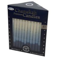 Chanukah Candles Blue & White Premium