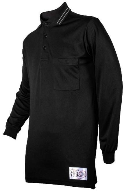 Honig's Long Sleeve Black Umpire Shirt