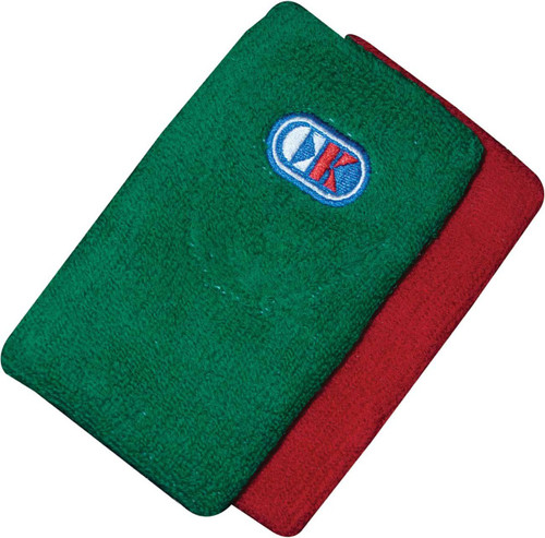 Cliff Keen Red and Green Wrestling Referee Wrist Bands