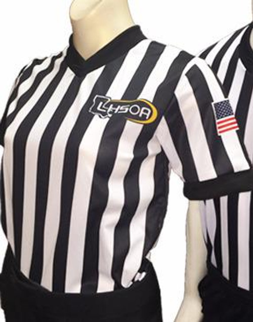 Louisiana LHSOA Embroidered Women's Basketball Referee Shirt