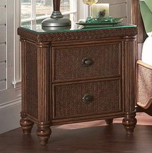Harborside Nightstand With Glass Top