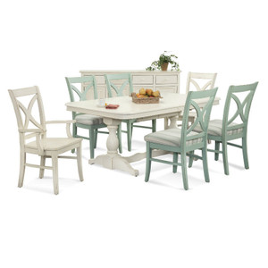 Hues 7 PC Rectangular Extension Dining Set with Arm Chairs