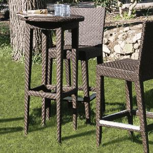 Atlantis 24 in Round Outdoor Wicker Bar Table