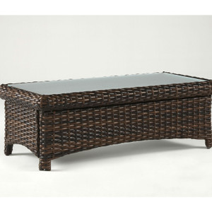 Saint Tropez Outdoor Coffee Table with Glass Top