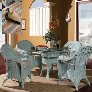 Seaside Retreat 5 PC Dining Set with Arm Chairs
