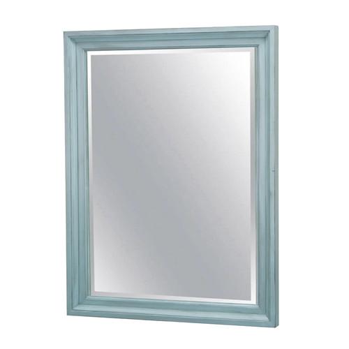 Monaco Mirror in a distressed bleu finish