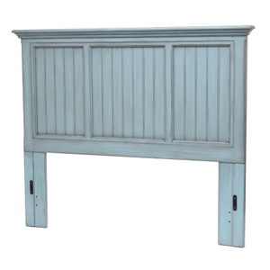 Monaco Twin Headboard in a distressed bleu finish