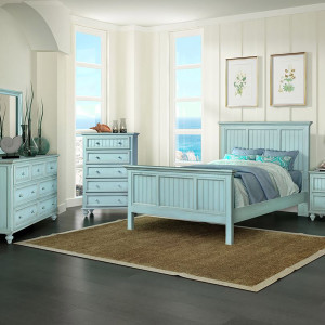 Monaco Bedroom shown in distressed blue finish.