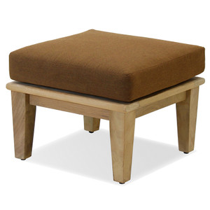 The Laguna Outdoor Ottoman is made from plantation teak.