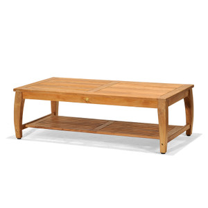The Laguna Outdoor Coffee Table is made from plantation teak.