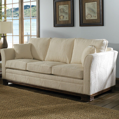 The Kingston Queen Sleeper Sofa comes in your choice of feet, fabric, and finish color.