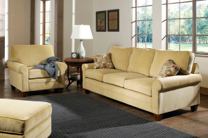 The Highland Loveseat comes in your choice of feet, fabric, and finish color.