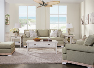 The Fairwind Loveseat is available in your choice of fabric.