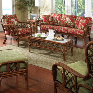 Grand Isle Collection offered in your choice of finish color and fabric.