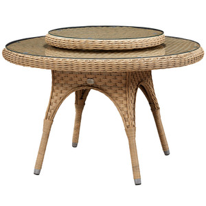 "El Dorado Outdoor 67"" Table with Lazy Susan"