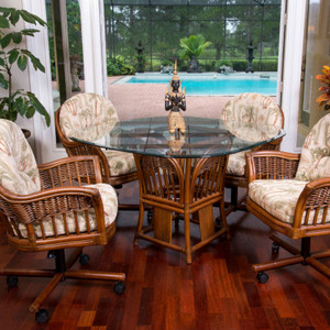 Bridgeport 5 PC Dining Set with Caster Arm Chairs