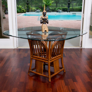 Bridgeport Square Round Table Base With Glass Top