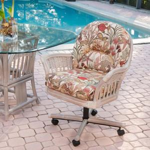 Bridgeport Tilt Swivel Caster Chair in Rustic Driftwood finish