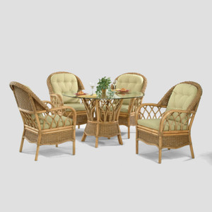 Everglade 5 PC Round Dining Set with Arm Chairs