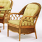 Everglade Dining Armchair is available in choice of finish color and fabric.