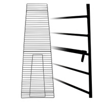 LHP-122 - Matte Black Grids for Triangular Unit