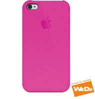 iLuv iPhone 4 Overlay Translucent Hardshell Case - Hot Pink