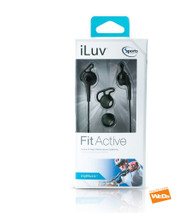 iLuv Fitactive Sports In Ear Headphones IEP414 iPhone Smartphone Black