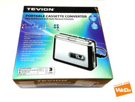 Tevion 48540 Portable Tape Cassette CD MP3 PC Converter Player