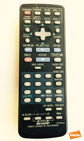 GENUINE ORIGINAL SHARP G0184AJ VCR REMOTE VCM271HM VCM27HM VCMH67HM