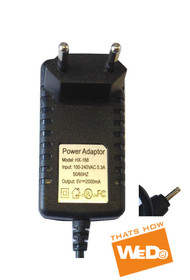 ALPHATAB CHINAVISION ANDROID TABLET PC HX-168 POWER SUPPLY AC ADAPTER 5V 2A EU