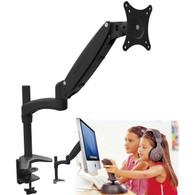 Single Arm Gas Spring PC Monitor Desk Mount