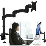 Single Extension Arm Tilt PC Monitor Desk Mount