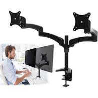 Dual Extension Arm Tilt PC Monitor Desk Mount