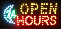 Open sign (Open 24 hrs)