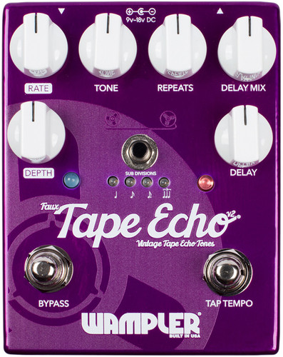 Wampler Faux Tape Echo ~ Delay Pedal V2 (Tape_Echo V2)