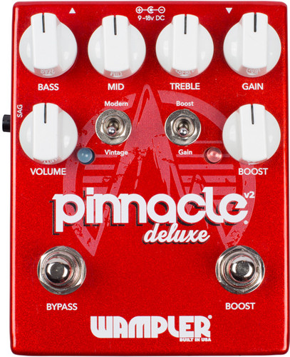 Wampler Pinnacle Deluxe V2 ~ Overdrive Distortion Pedal (Pinnacle_Deluxe V2)