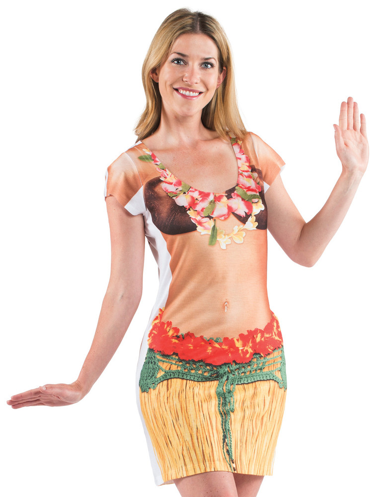 Faux Real Hula Girl - Front View