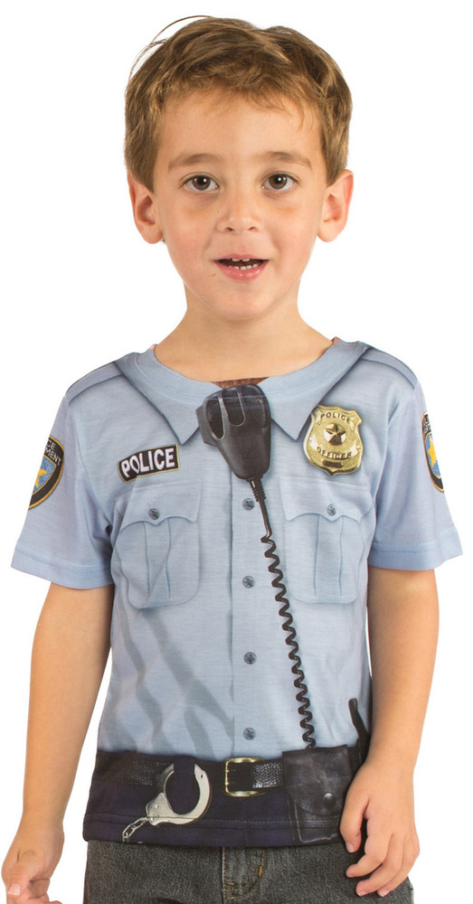 Faux Real Toddler Policeman - Model Front View