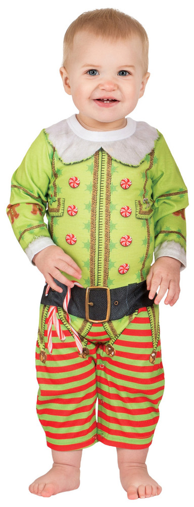 Faux Real Infant Christmas Elf - Front View