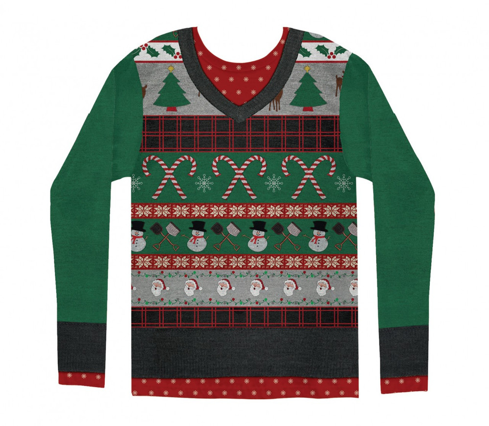 Mens Ugly Christmas Sweater Front View