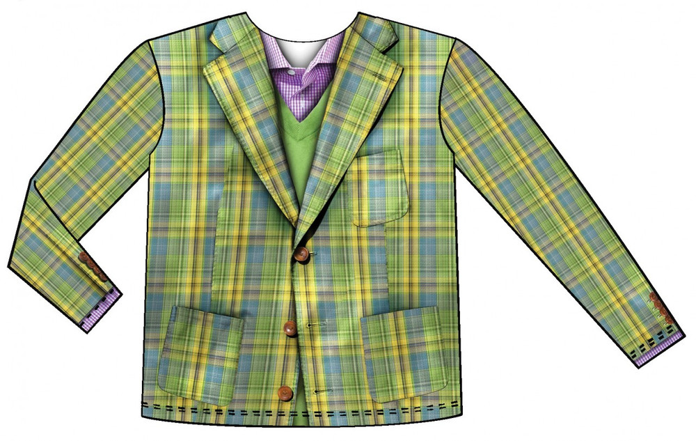 Youth Plaid Vest Front View