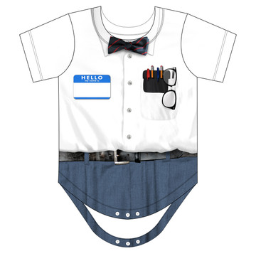 Faux Real Infant Nerd Romper - Front