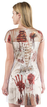 Faux Real Zombie Bride - Back View