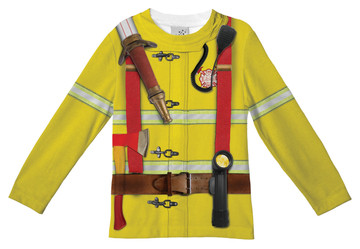 Faux Real Toddler Fireman - Front View