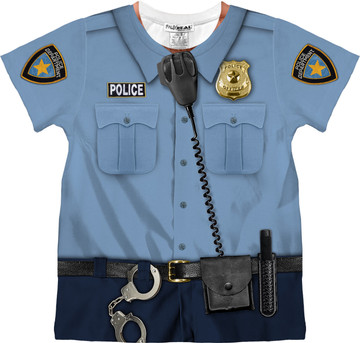 Faux Real Toddler Policeman - Front View