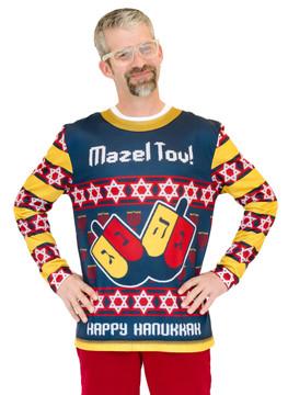 Mazel Tov Ugly Hanukkah Sweater