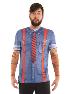 Hipster Suspenders w/ Tattoos